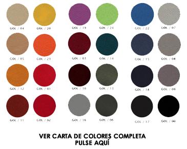 Carta de Colores para Butacas